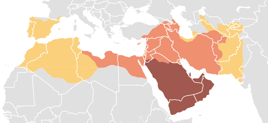 Map Of Expansion Of Caliphate Umayyad Caliphate Wikipedia The
