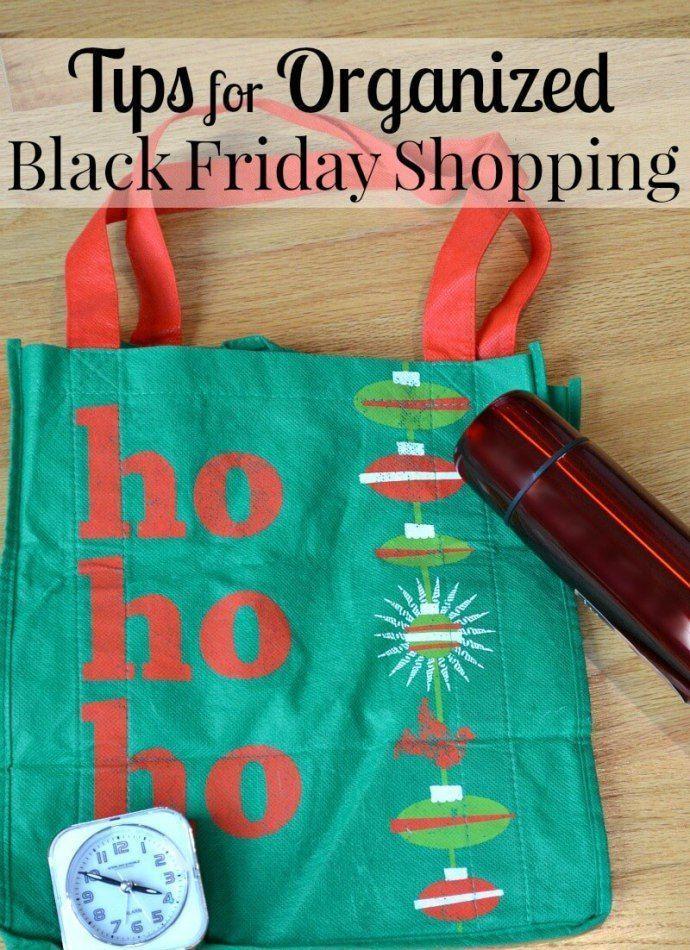 Tips for Organized Black Friday Shopping #blackfriday