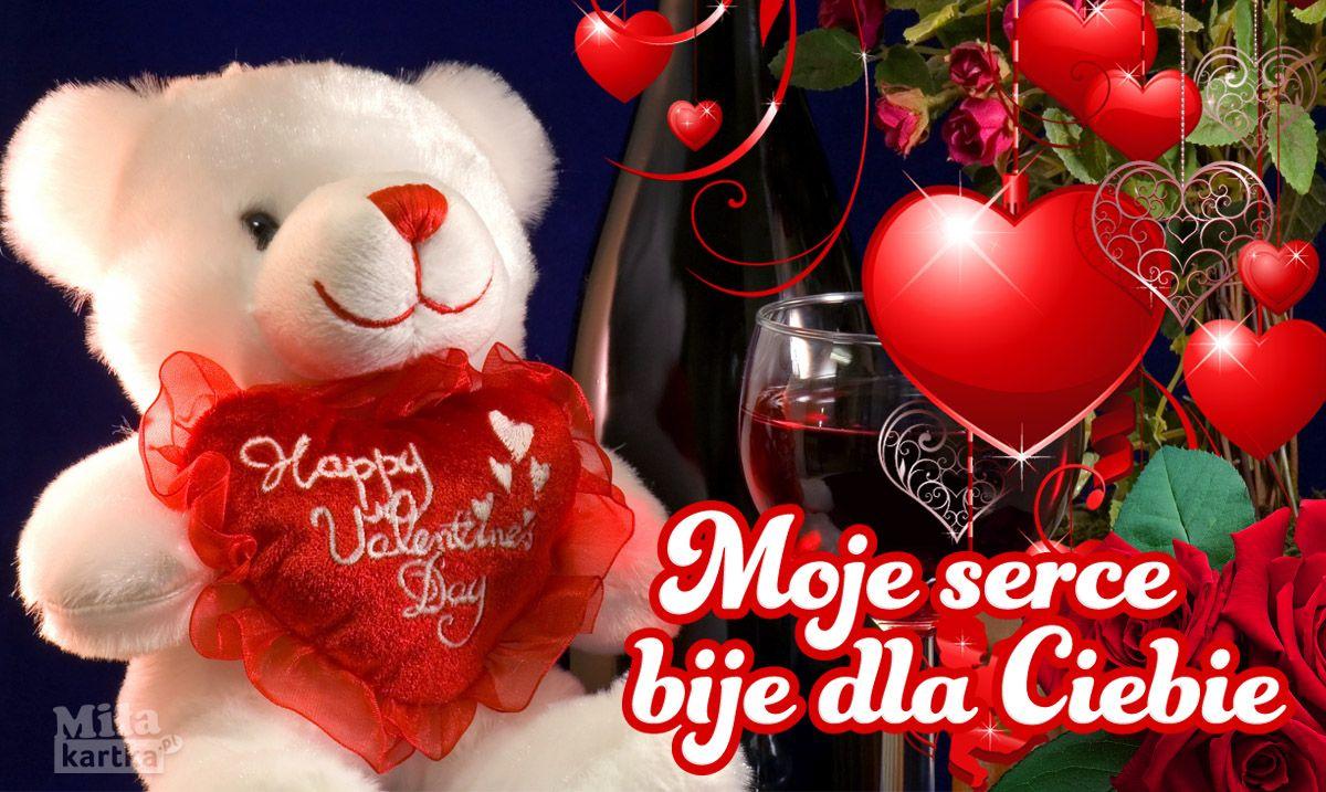 Moje Serce Bije Dla Ciebie Milosc Walentynki With Images