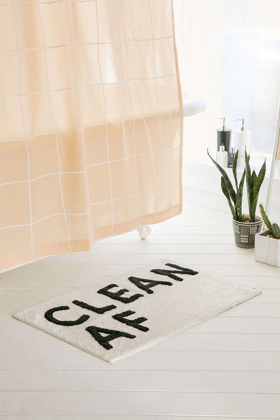 Clean AF Bath Mat Bath Mat Urban Outfitters And Bath - Beige bath mat for bathroom decorating ideas