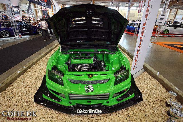 extreme mitsubishi lance evo viii with a varis wide body kit shot at bilsport performance