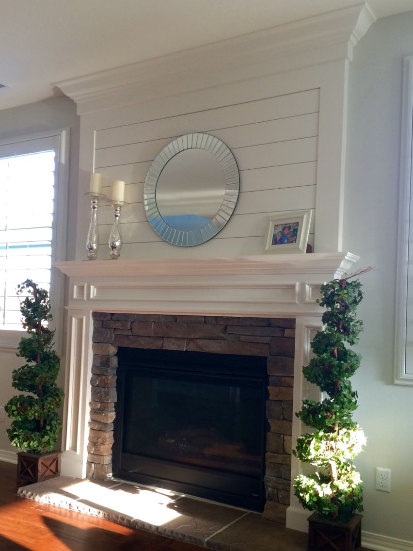 Shiplap Panel Mantle For The Home Pinterest Mantle