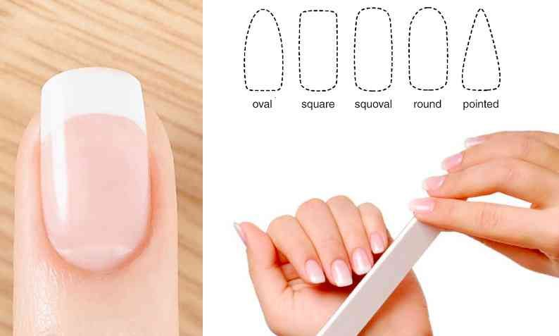 How to shape your nails nail shapes squoval acrylic