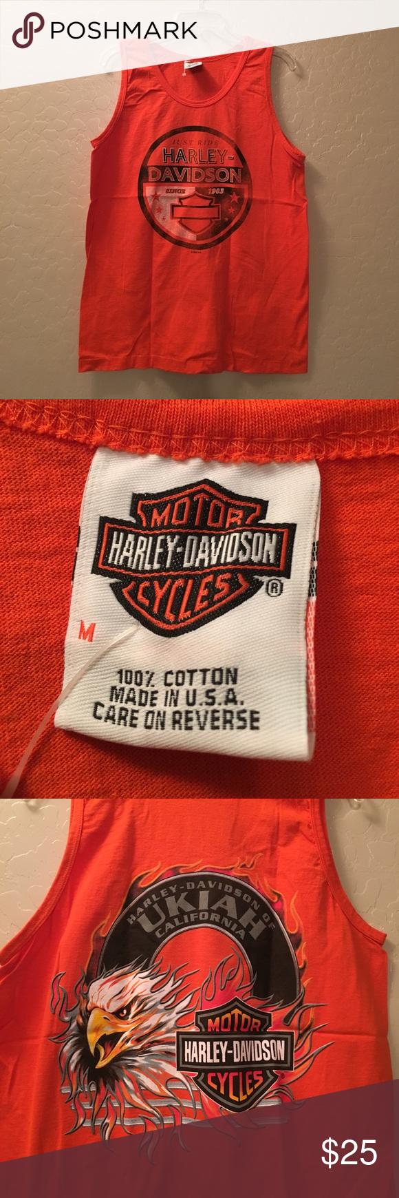Harley-Davidson Screaming Eagle Black Tank Top, Men's, Ukiah California Harley-Davidson Shirts Tank Tops