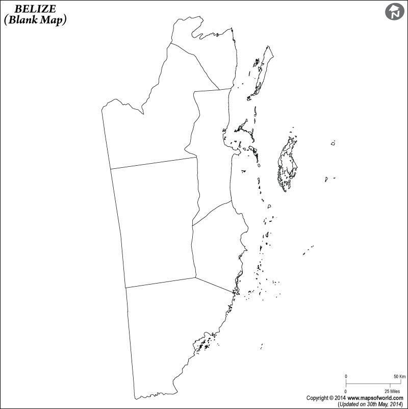Belize Blank Map Flag Coloring Pages Map Of Belize Belize Flag