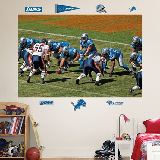 Fathead Detroit Lions Bears Line Of Scrimmage   Wall Sticker, Mural, U0026 Decal  Designs At Wall Sticker Outlet Part 64