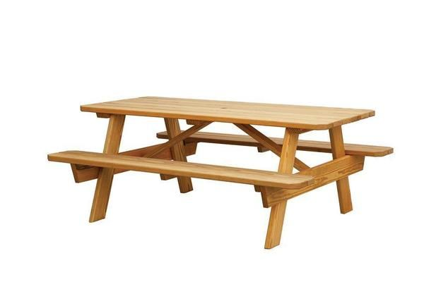 Amish Pine Picnic Table With Benches Picnic Table