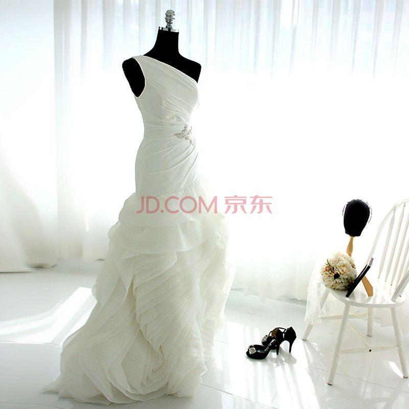 Laurelmary Lan Mu 2014 New European And American Slim Lace Dress Soft Chiffon Roses Pure White S B 80 W 64