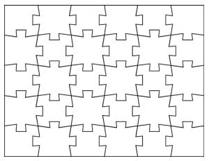 Jigsaw Puzzle Template  Kid Fun    Template