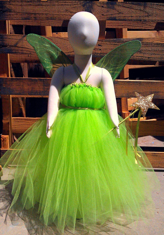 Tinkerbell inspired tutu dress costume. $40.00, via Etsy. | DIY ...
