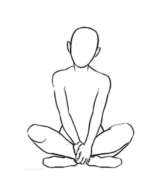 Sitting Criss Cross Art Reference Poses Drawing Poses Drawing