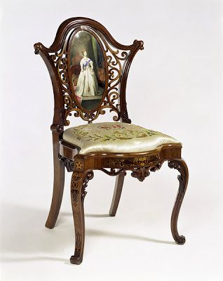 Antique Queen Victoria Drawing Room Chair, 1851