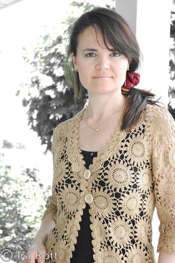 Pattern Lace Crochet Motif Cardigan Crochet Pdf By Irarottpatterns