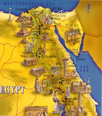 Ancient Egypt Map Ancient Egypt Pinterest Ancient Egypt - Map of ancient egypt historical sites