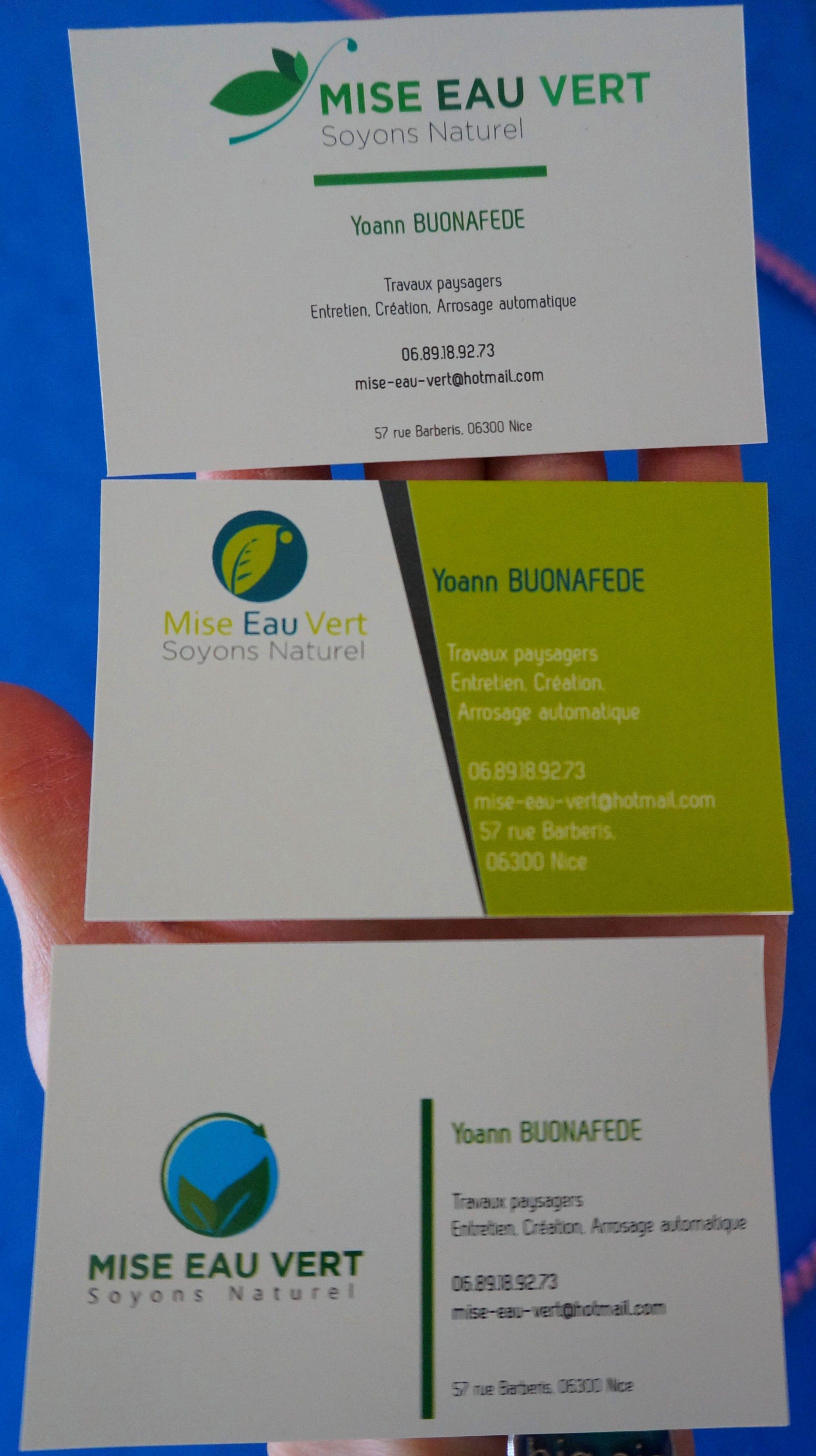 Carte De Visite Taille Reelle En Papier Recycle