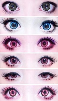 Colored Contacts Cosplay Google Search My Polyvore Finds