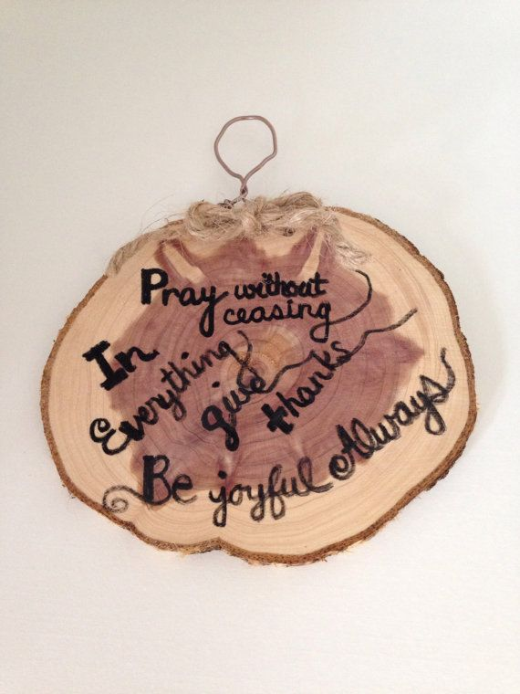Give Thanks Wood Slice Mini Sign Thanksgiving Decor Small Rustic