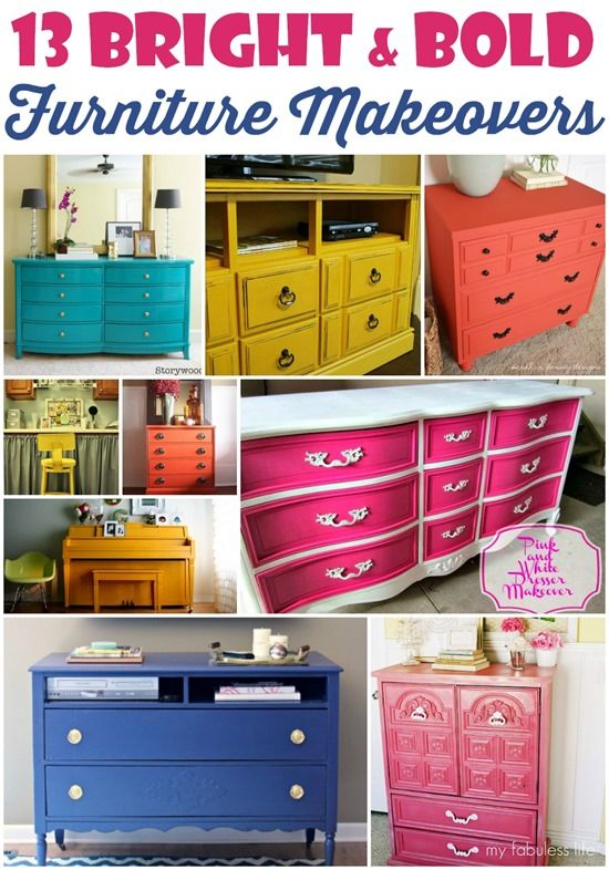 13 Bright And Bold Furniture Makeovers Domestic Superhero Furniture Makeover Redo Furniture Furniture Diy