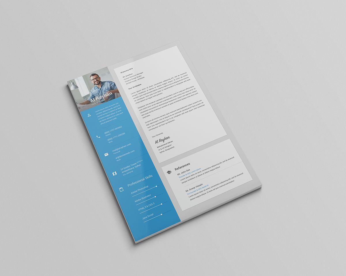 05 material design personal cv resume psd template   Resume ...