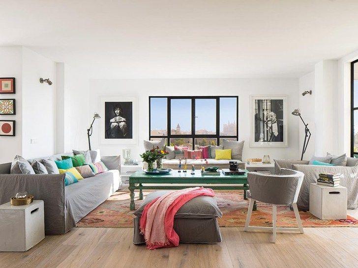 Bright Penthouse in Spain, design, décor, interior, Spain, penthouse - Idee Deco Maison De Campagne