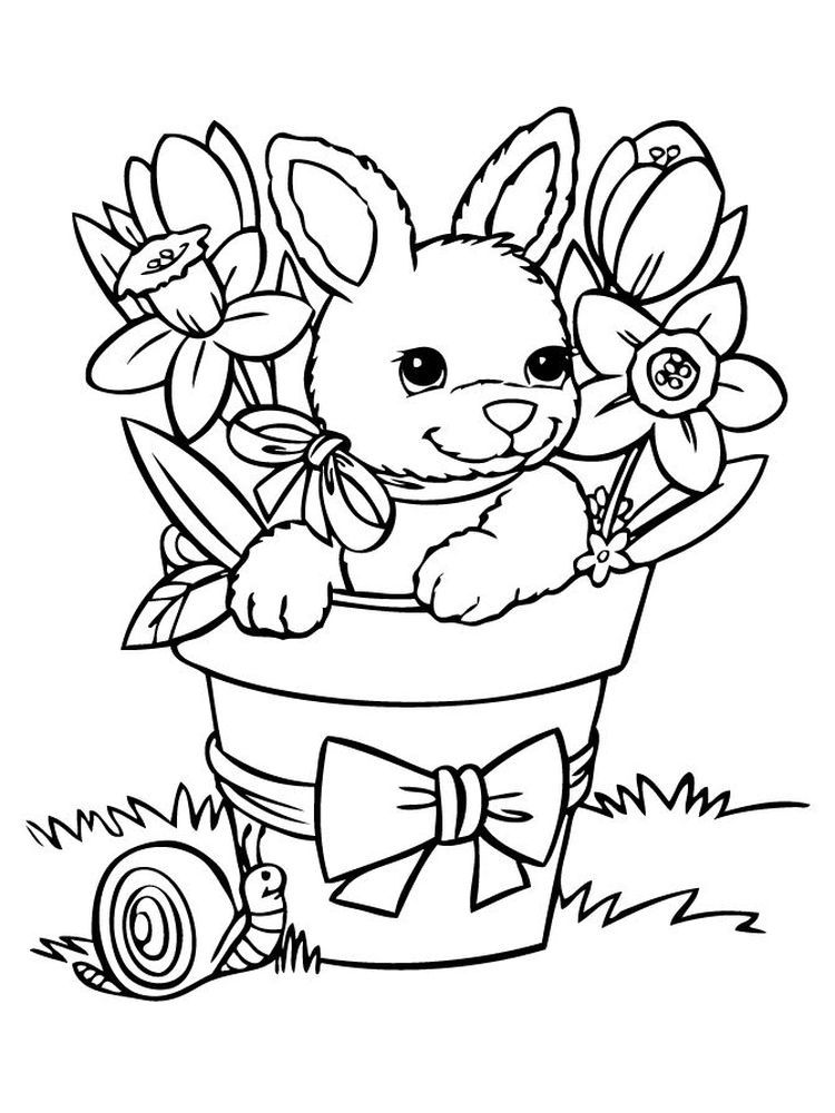 Bunny Coloring Pages Simple Below Is A Collection Of Easy Bunny Coloring Page Which You Can Bunny Coloring Pages Animal Coloring Pages Spring Coloring Sheets