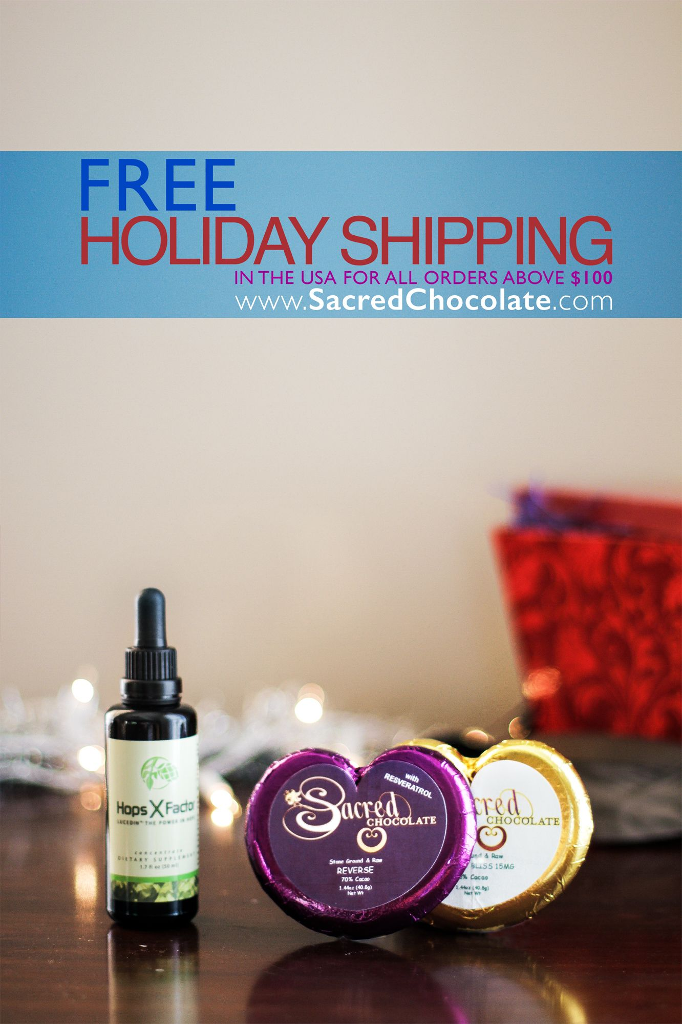 ENJOY 2 weeks of FREE SHIPPING! David Wolfe introduces the New 'REVERSE' Bar: Resveratrol in Sacred Chocolate!