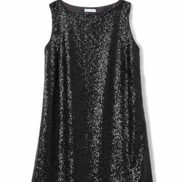 Cekinowa czarna sukienka wykończona strusimi piórami.    Długość 95 cm.    Na zamówienie rozmiar M/L