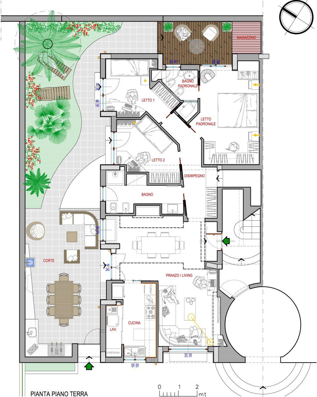 L 39 incredibile trasformazione di un vecchio cortile for Progetti di interni case moderne