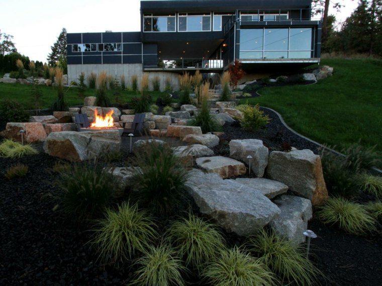 diseno-de-jardines-terrazas-bonita-casa Casas y otros Pinterest - jardines en terrazas