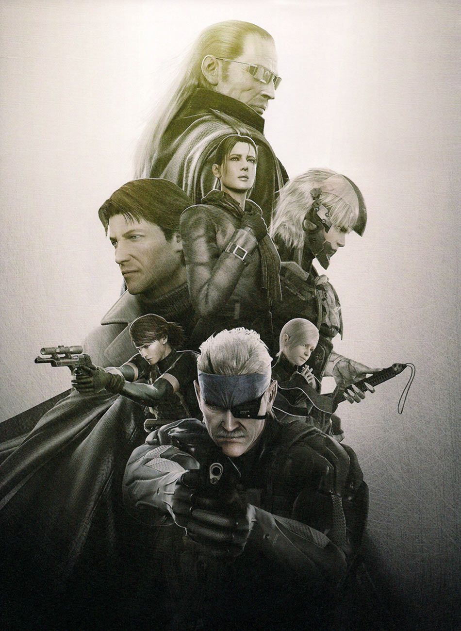 Characters Promo Poster Art From Metal Gear Solid 4 Art Artwork Gaming Videogames Gamer Gameart Metalgears In 2020 Metal Gear Metal Gear Solid Metal Gear Rising