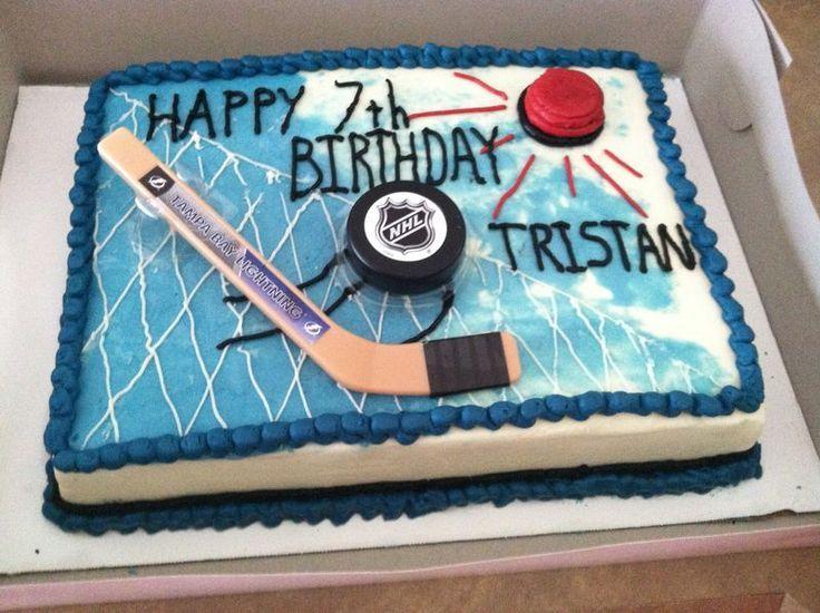 Hockey Cake Ideas Great Cake Idea A Hockey Cake Hockey Birthday Cake Hockey Birthday Hockey Birthday Parties