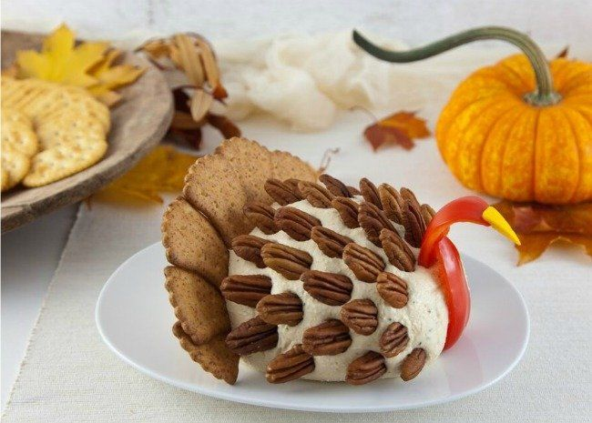 Turn Your Cheese Ball Into A Turkey