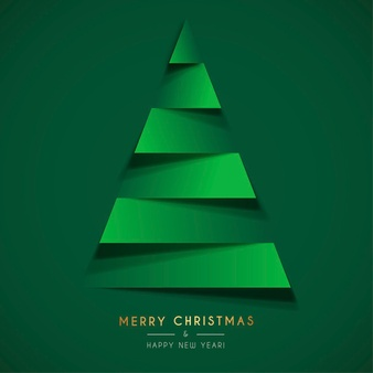 Download Abstract Christmas Card Template With Papercut Christmas Tree For Free Christmas Card Template Christmas Cards Christmas Campaign