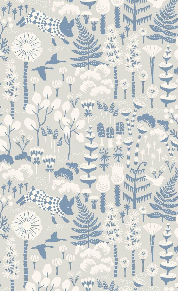 Hoppmosse by Boråstapeter Grey Wallpaper 1454 in