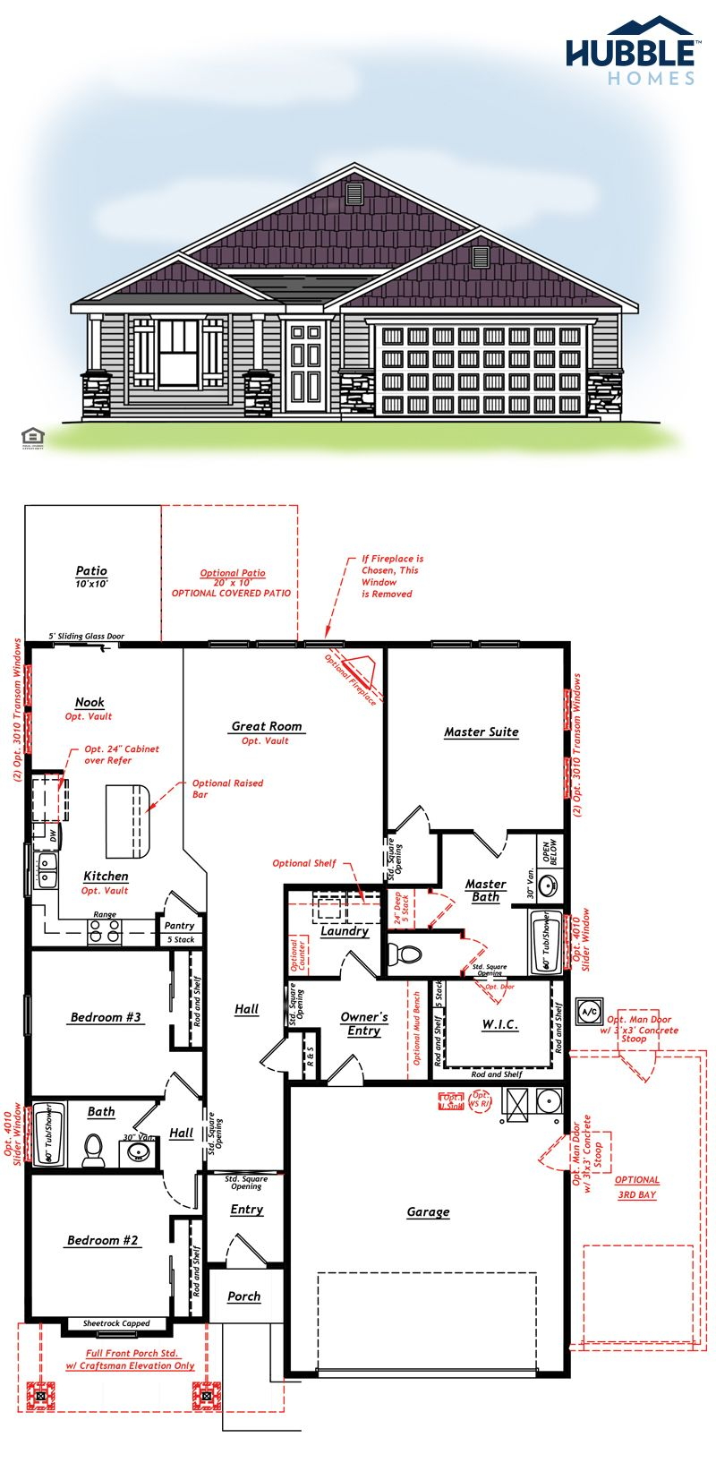 1 627 Sq Ft Birch Floorplan From Hubble Homes Floor Plans Shop House Plans New Homes