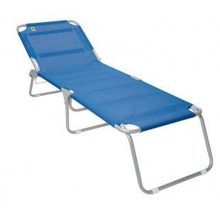 Lit De Plage Pliant Playa Magnum Bleu Chaises De Camping Lit Plage Materiel Camping