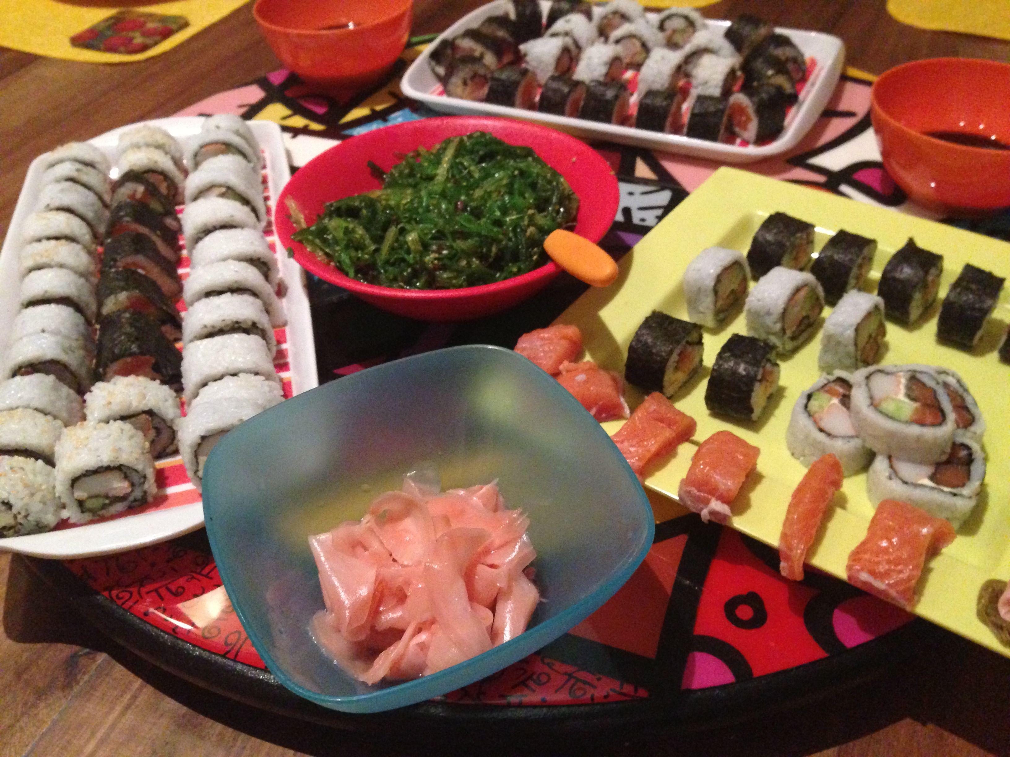 Sushi con colores!!!