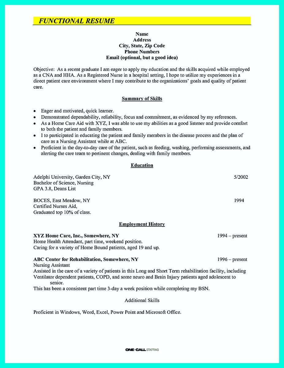 "Certified Nursing Assistant Resume Examples Nice ""Mention Great And Convincing Skills"" Said Cna Resume Sample ."