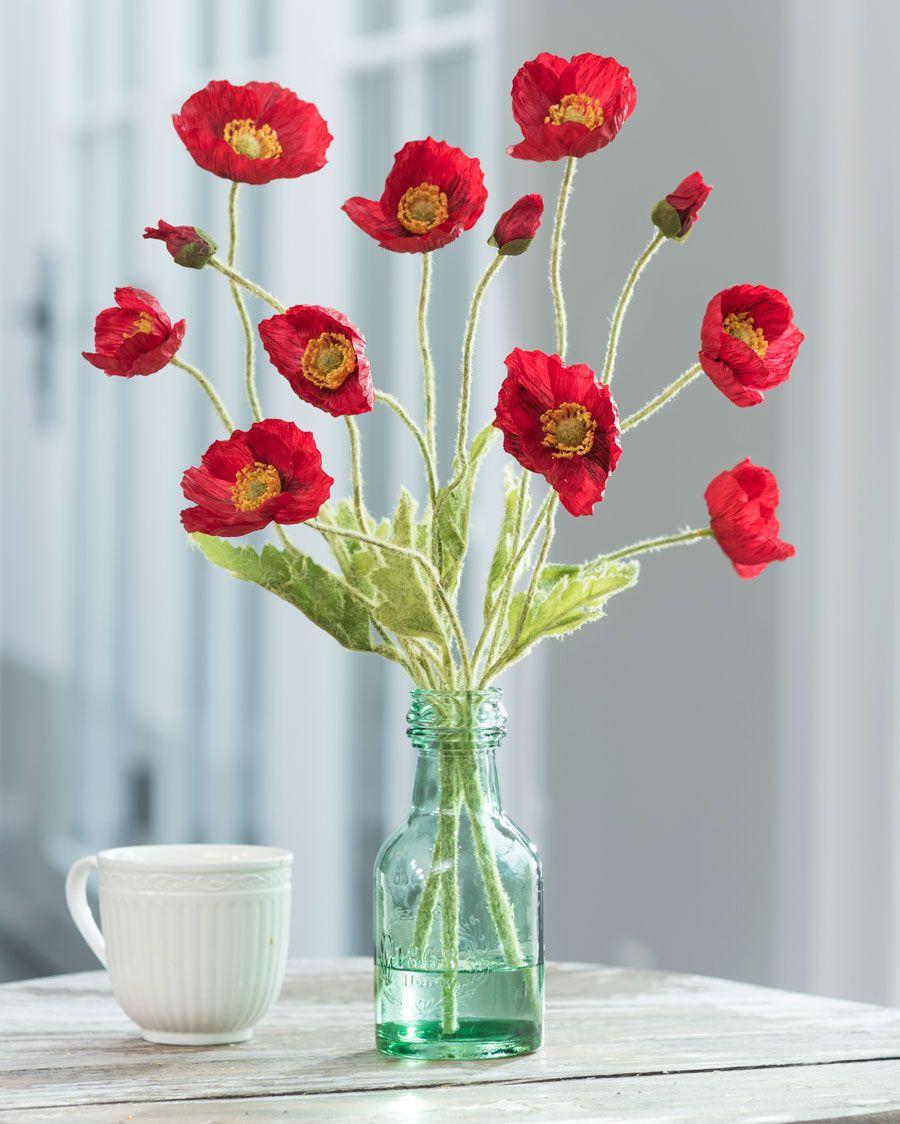 California Poppiessilk Flower Arrangement Flower Arrangements