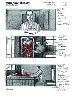 Storyboard for American Beauty by Robin Richesson. Director: Sam Mendes ★ || CHARACTER DESIGN REFERENCES | キャラクターデザイン  • Find more artworks at https://www.facebook.com/CharacterDesignReferences & http://www.pinterest.com/characterdesigh and learn how to draw: #concept #art #animation #anime #comics #storyboard || ★