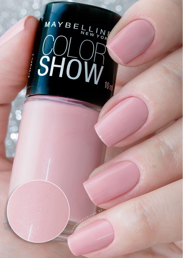 Pretty Pink, Colorshow Maybelline   Esmalte, Diseños de uñas y Garra