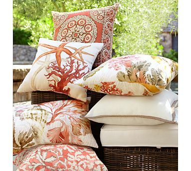 on savings coral of pillows in cover house artisan set indoor pillow shop outdoor modern pastel beach