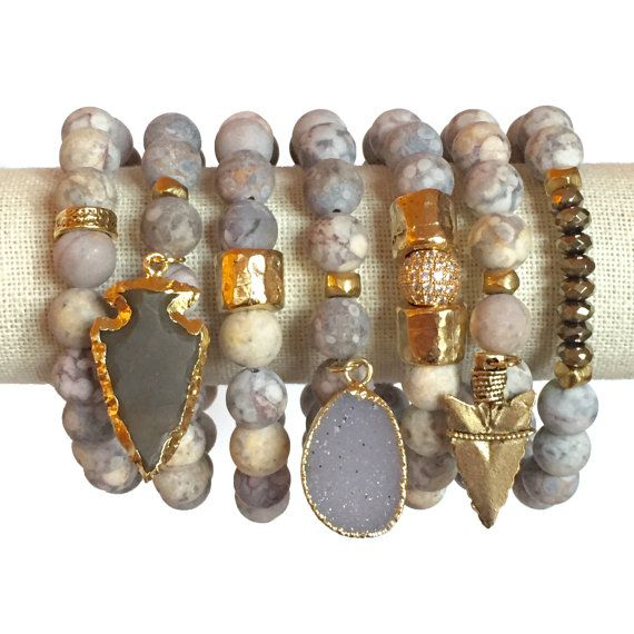 24k Gold Plated Arrowhead Stackable