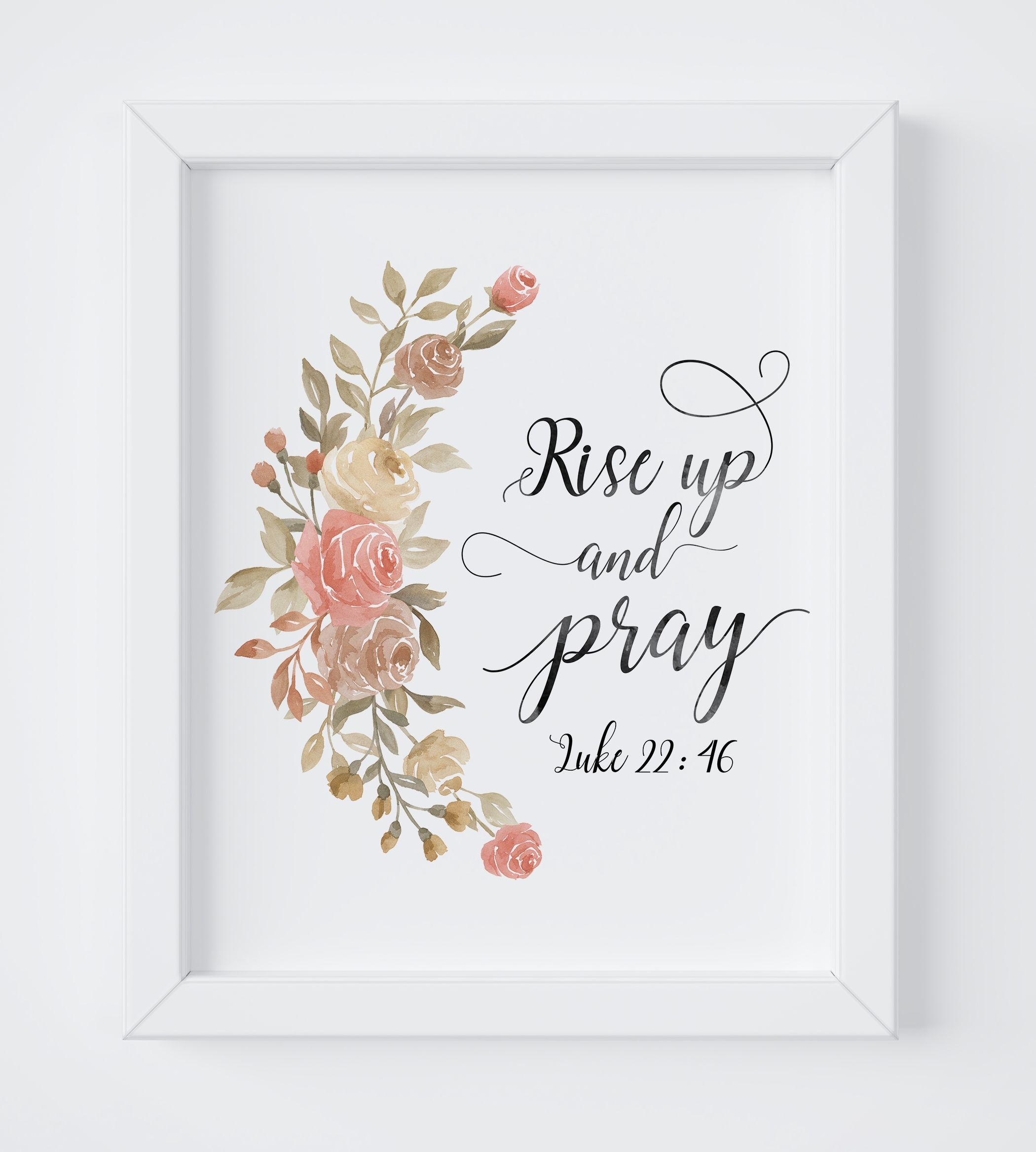 Pink Floral Bible Verse Wall Art Quotes 5 60 Wall Art Quotes Christian Wall Art Quotes Flower Prints Art