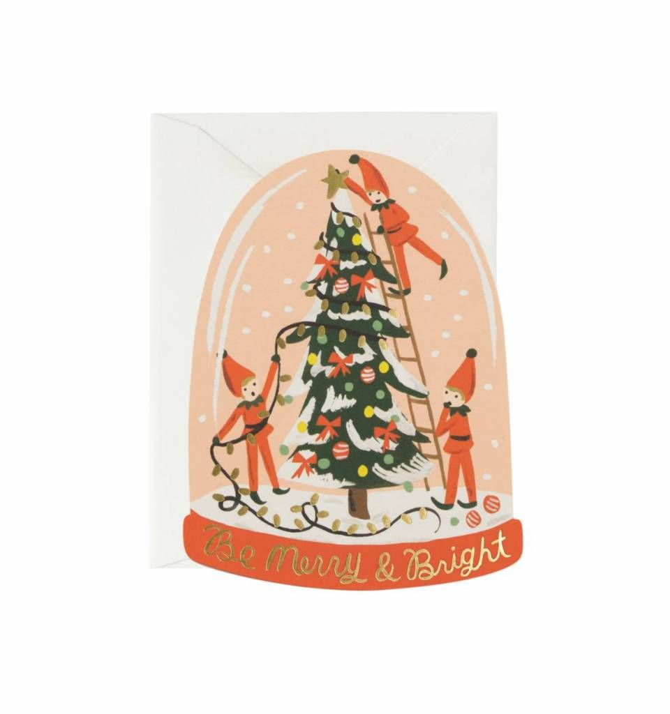 Rifle paper co kerstkaart elfjes christmas stationery pinterest gold foil wishes across the bottom make this note perfect for all your holiday cards m4hsunfo