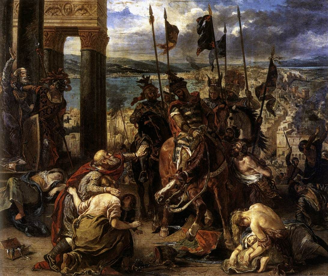 The Crusaders' entry into Constantinople, 12th April 1204, 1840 (oil on canvas), 1840 Eugene Delacroix