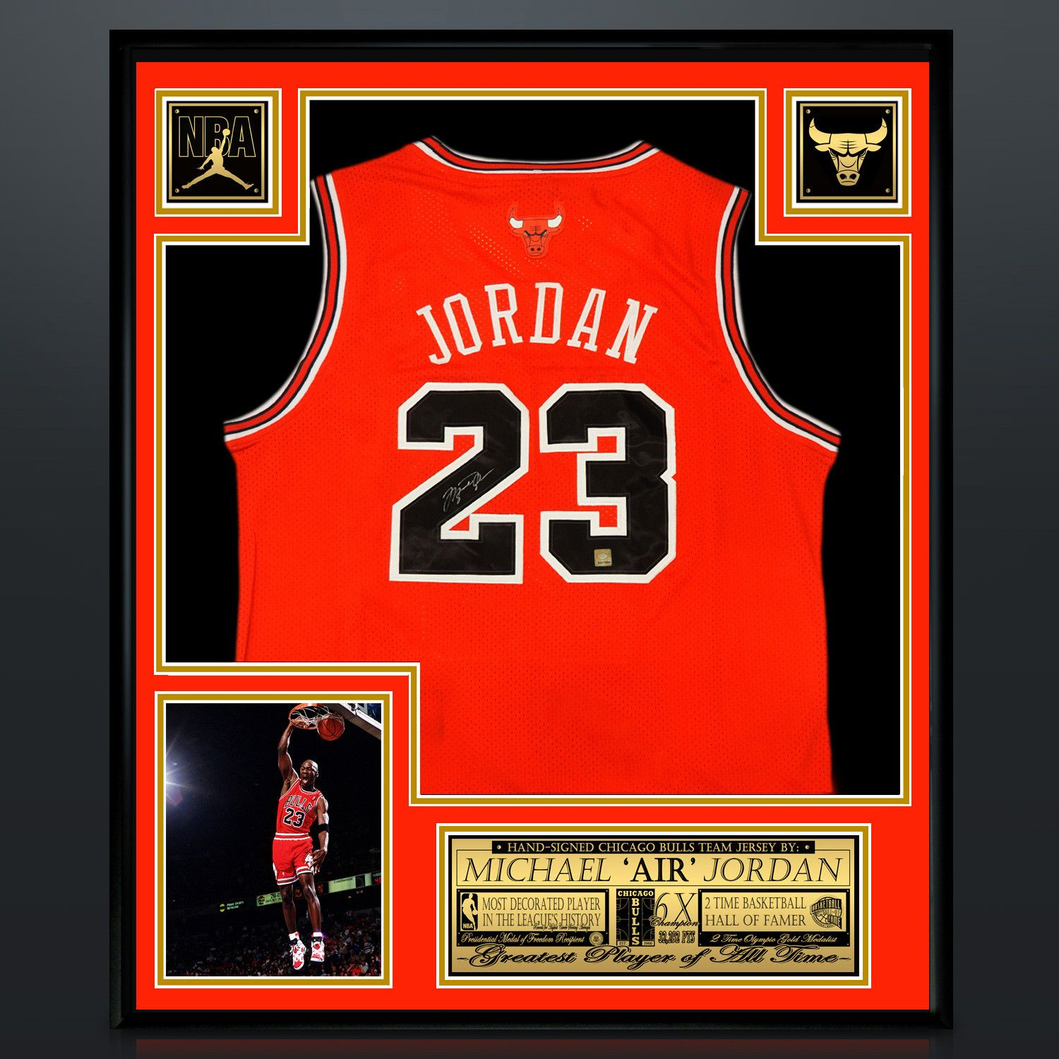 buy online 0bd7e be768 Michael Jordan // Signed Chicago Bulls Red Jersey // Museum ...