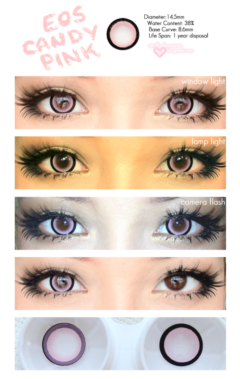 Circle Lenses Coloured Contacts Lens Big Eye Korean Pretty From EyeCandys