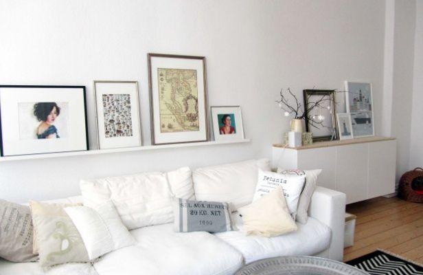 ikea spazio stretto , mobilli bassi piu spazio Living Room - wandgestaltung wohnzimmer braun grau