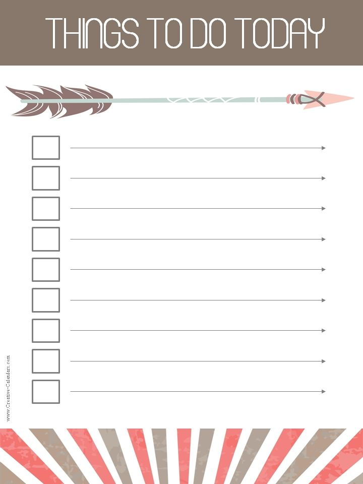 Free printable task list to do list Pinterest Free printable - daily task sheet template